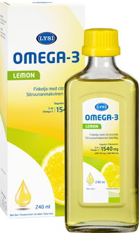 LYSI LEMON OMEGA-3 kalaöljy 240 ml