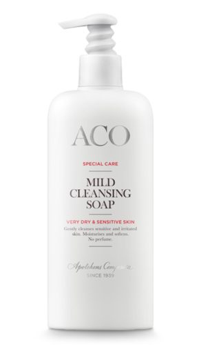 * * ACO SPECIAL CARE MILD CLEANSING SOAP mieto pesuneste 300 ml pumppupullo
