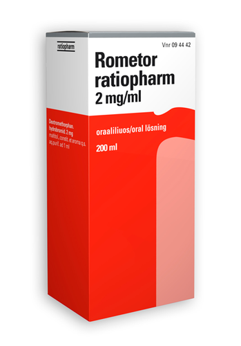 ROMETOR ratiopharm 2mg/ml oraaliliuos 200 ml