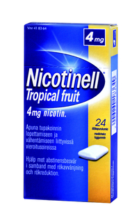 NICOTINELL 4 mg purukumi Tropical Fruit 24 kpl