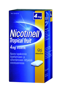 NICOTINELL 4 mg purukumi Tropical Fruit 96 kpl