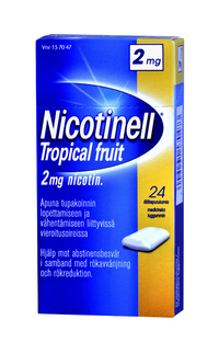 NICOTINELL 2 mg purukumi Tropical Fruit 24 kpl
