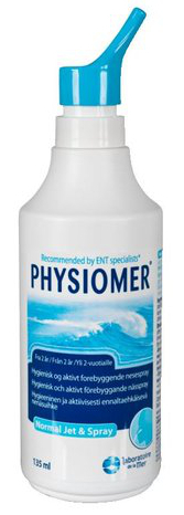 PHYSIOMER NORMAL JET & SPRAY nenähuuhtelu 135 ml