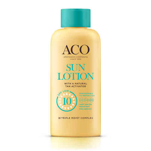 ACO SUN LOTION TAN ACTIVATOR SPF 10 aurinkovoide 200 ml