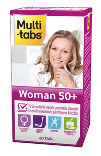 * * MULTI-TABS WOMAN 50+ monivitamiini 60 tablettia