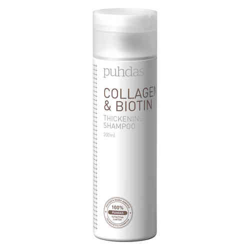 PUHDAS+ COLLAGEN and BIOTIN tuuheuttava shampoo 200 ml