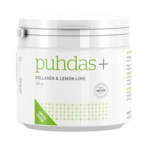 PUHDAS+ COLLAGEN LEMON LIME kollageenijauhe 200 g *