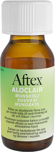 AFTEX ALOCLAIR suuvesi aftojen hoitoon 120 ml *