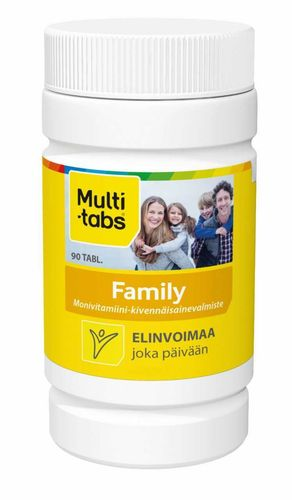MULTI-TABS FAMILY monivitamiini, eri kokoja