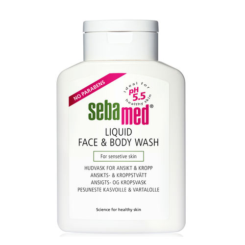 SEBAMED LIQUID FACE and BODY pesuneste, eri kokoja