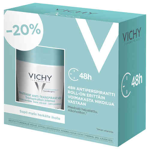 * * VICHY DEO 48h ANTIPERSPIRANT INTENSE roll-on 2 x 50 ml tuplapakkaus!