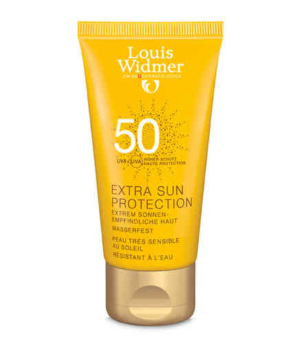 * LOUIS WIDMER SUN EXTRA PROTECTION SPF 50 aurinkovoide 50 ml hajusteeton