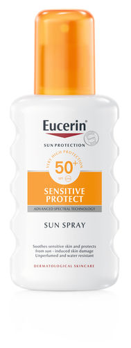 EUCERIN SENSITIVE PROTECT SUN SPRAY SPF 50+ aurinkosuojasuihke 200 ml