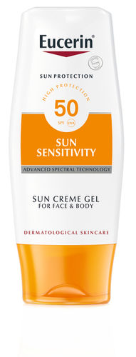 EUCERIN SUN SENSITIVITY CREAM GEL FACE AND BODY SPF 50 aurinkovoide 150 ml