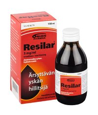 RESILAR 3 mg/ml oraaliliuos 150 ml tai 200 ml
