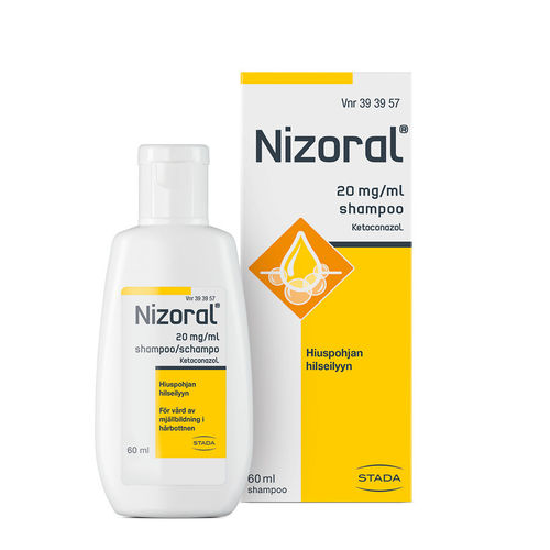 NIZORAL 20 mg/ml hilseshampoo 60 ml tai 100 ml