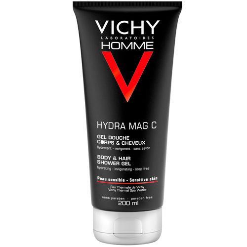 VICHY HOMME HYDRA MAG C BODY & HAIR SHOWER GEL suihkugeeli 200 ml