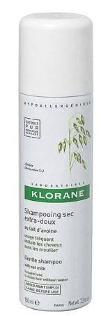 KLORANE GENTLE kaurauute-kuivashampoo spray 50 tai 150 ml