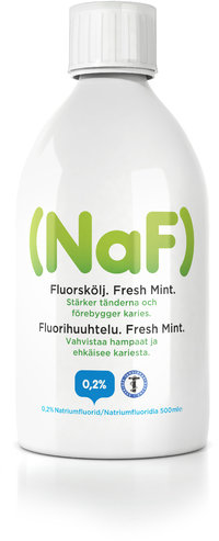 NaF 0,2 % FRESH MINT fluorihuuhde 500 ml *