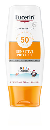 EUCERIN SENSITIVE PROTECT KIDS SUN LOTION  SPF50+ aurinkosuojaemulsio lapsille 150 ml