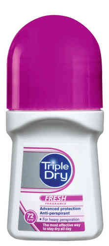 * * TRIPLE DRY FRESH 72 h antiperspirantti roll-on 50 ml