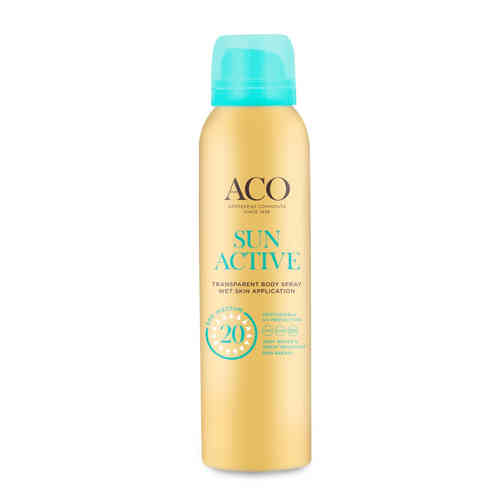ACO SUN ACTIVE BODY SPRAY SPF 20 aurinkosuihke 125 ml