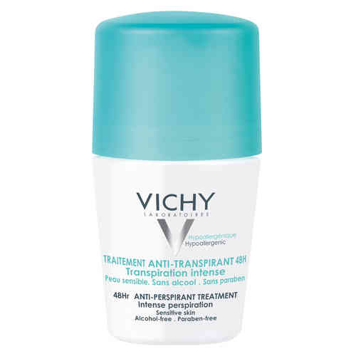 * * VICHY DEO 48h INTENSE PERSPIRATION antiperspirantti roll-on 50 ml hajustettu