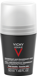 VICHY DEO HOMME ANTIPERSPIRANT 48h roll-on 50 ml hajusteeton