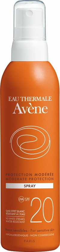 AVENE MODERATE PROTECTION SPRAY SPF 20 aurinkosuihke 200 ml