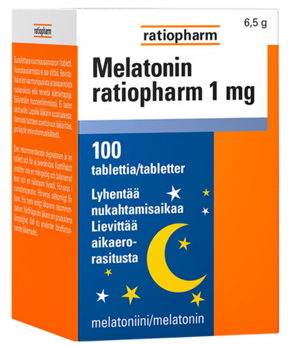 MELATONIINI RATIOPHARM 1 mg 100 tablettia