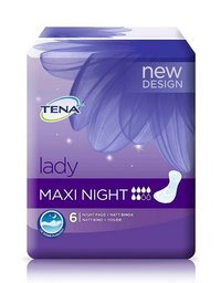 TENA LADY MAXI NIGHT imukyky 6 tippaa 6 kpl