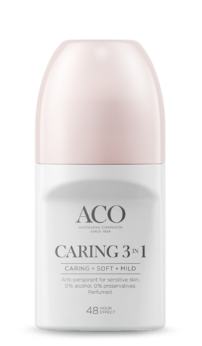 * * ACO DEO CARING 3-in-1 antiperspirantti 50 ml