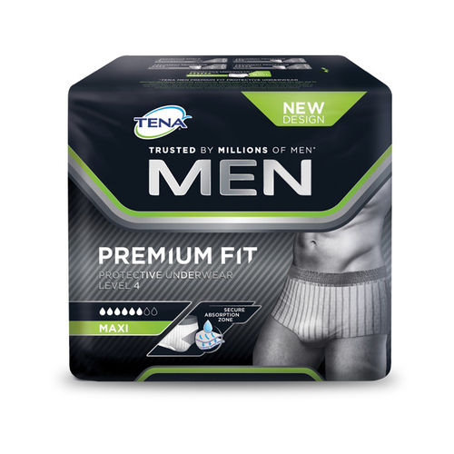 TENA MEN PREMIUM FIT Level 4 virtsankarkailuun imukyky 6 tippaa, eri kokoja