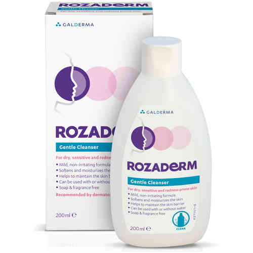 ROZADERM GENTLE CLEANSER LOTION puhdistusaine 200 ml