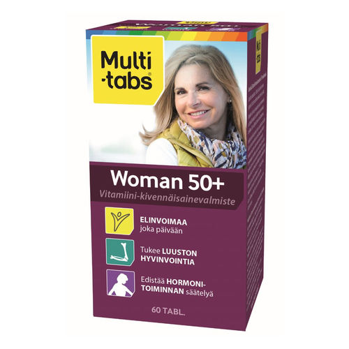 MULTI-TABS WOMAN 50+ monivitamiini 60 tablettia