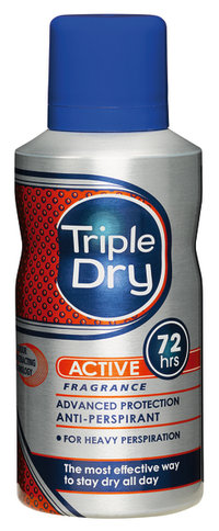 TRIPLE DRY ACTIVE MEN 72 h spray antiperspirantti 150 ml