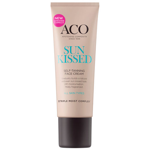 ACO SUN FACE SUNKISSED SELF-TANNING CREAM itseruskettava kasvovoide 50 ml