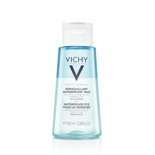 * * VICHY PURETE THERMALE WATERPROOF EYE MAKE-UP REMOVER silmämeikinpoistoaine 100 ml