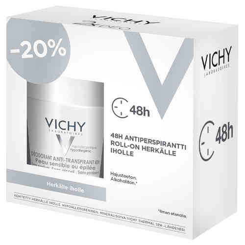 * * VICHY DEO 48h SOOTHING ANTIPERSPIRANT roll-on 2 x 50 ml tuplapakkaus