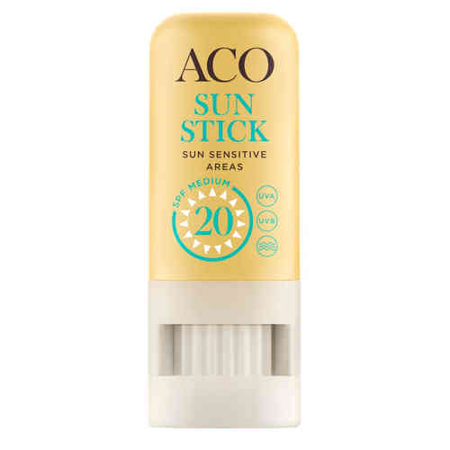 ACO SUN STICK SUN SENSITIVE AREAS SPF 20 aurinkopuikko *