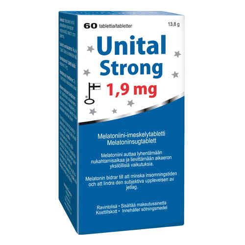 UNITAL STRONG 1,9 mg melatoniini 60 tablettia