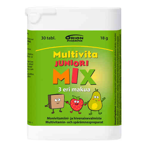 MULTIVITA JUNIORI MIX monivitamiini, eri kokoja