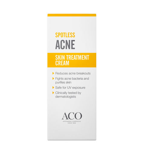 * * ACO SPOTLESS ACNE SKIN TREATMENT hoitovoide aknen hoitoon 30 g