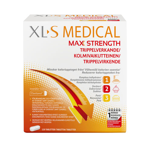 XL-S MEDICAL MAX STRENGTH painonhallintaan 120 tablettia
