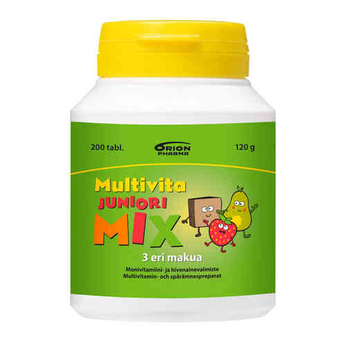 * * MULTIVITA JUNIORI MIX 200 purutablettia
