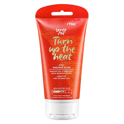 RFSU SENSE ME TURN UP THE HEAT 3in1 lämmittävä liukuvoide/hierontavoide 150 ml