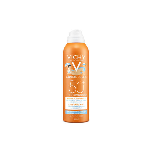 VICHY IDEAL SOLEIL CHILDREN ANTI-SAND MIST SPF 50+ aurinkosuihke lapsille 200 ml
