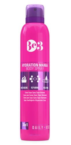 BE3 HYDRATION MANIA BODY SPRAY kosteuttava vartalosuihke 200 ml **