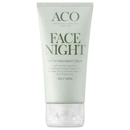 ACO FACE MATTIFYING NIGHT CREAM yövoide rasvoittuvalle iholle 50 ml
