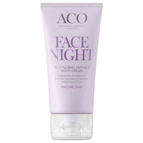 ACO FACE REVITALISING ANTI AGE NIGHT CREAM yövoide 50 ml